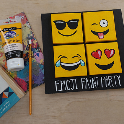 emoji paint party