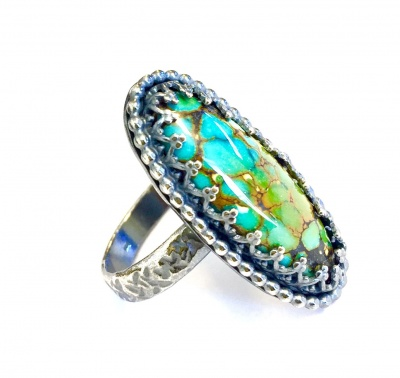 Stone Set Ring with Eva Sherman