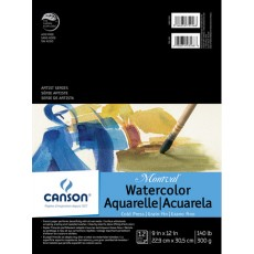 9x12 Montval CP 140lb Watercolor Paper-12 sheet