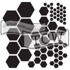 12x12 Stencil HEXAGONS
