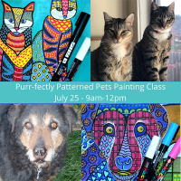 Purr-fectly Patterned Pets - Painting Workshop